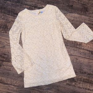 H&M Divided Cream Lace Shift Dress EUC Size 6